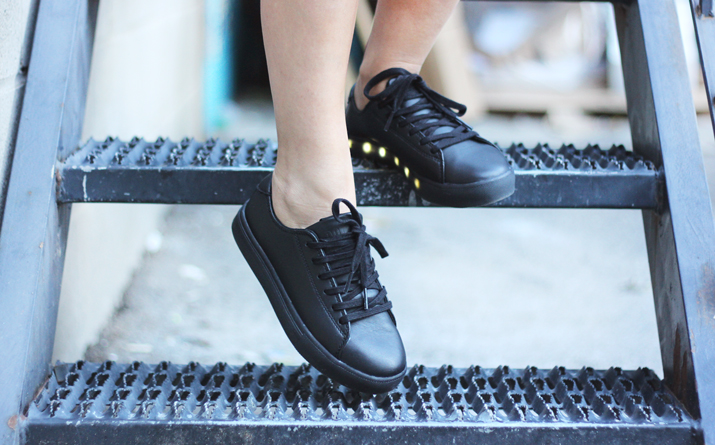 MyPopShoes - Leather Light Up Sneakers