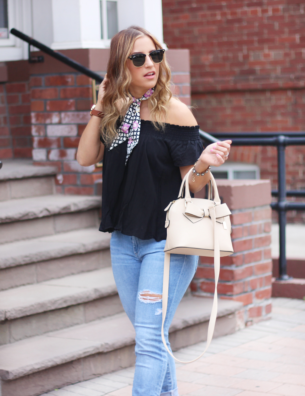 Off the shoulder top from Aritzia