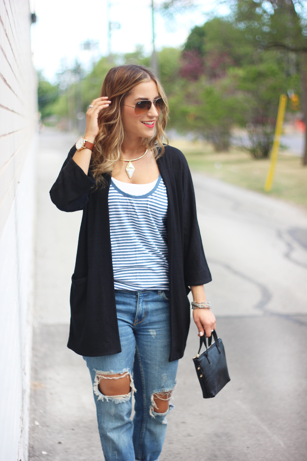 Zlata Sweater from Aritzia and Zara Ripped Jeans