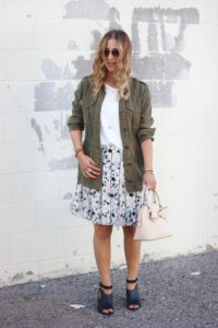 Floral Skirt with Pleats from Banana Republic