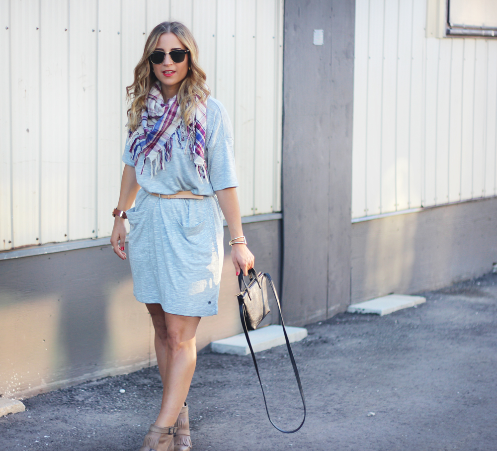 Grey t-shirt dress from Bench