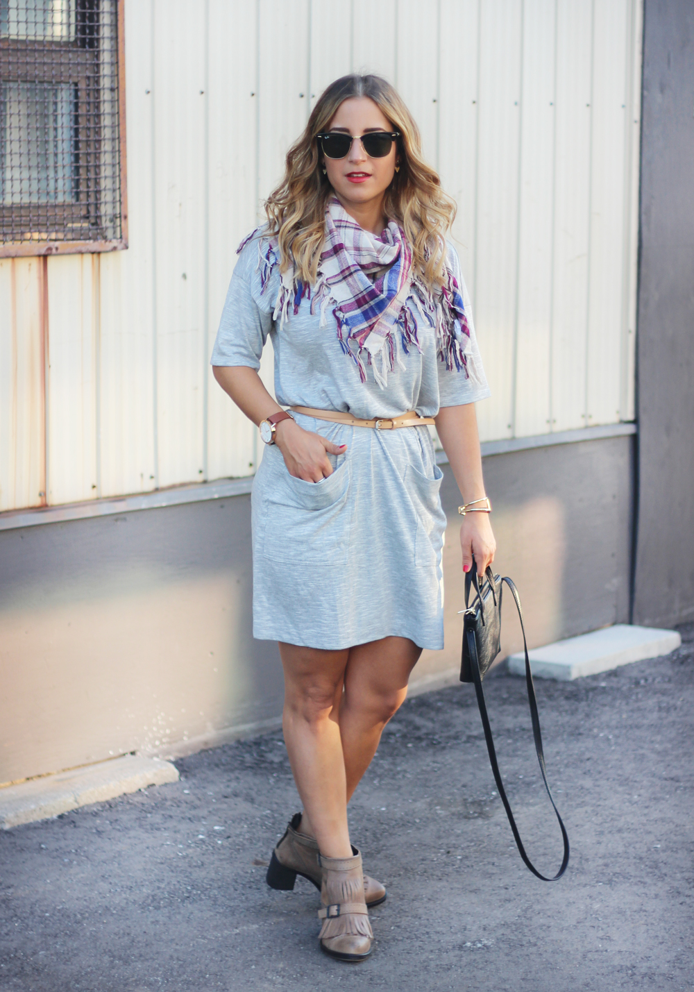 Bench t-shirt dress - transition to fall