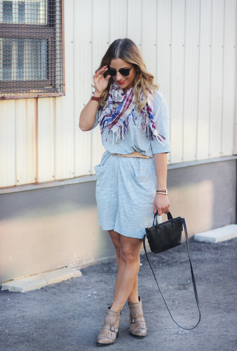 Toronto Fashion Blogger in Bench T-shirt dress