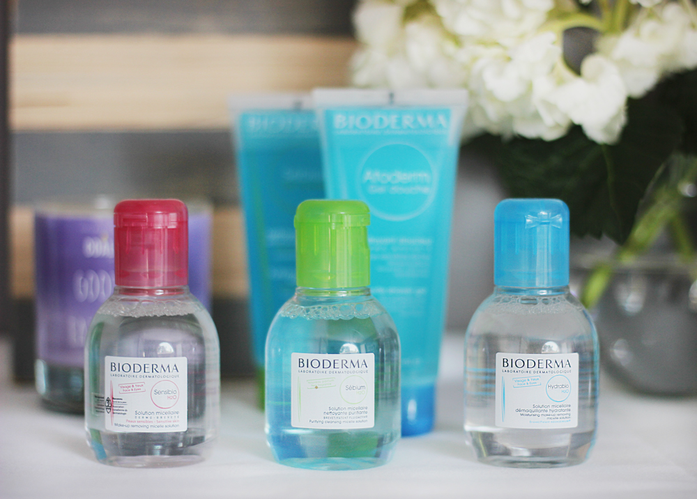 Bioderma travel-size dermatological waters