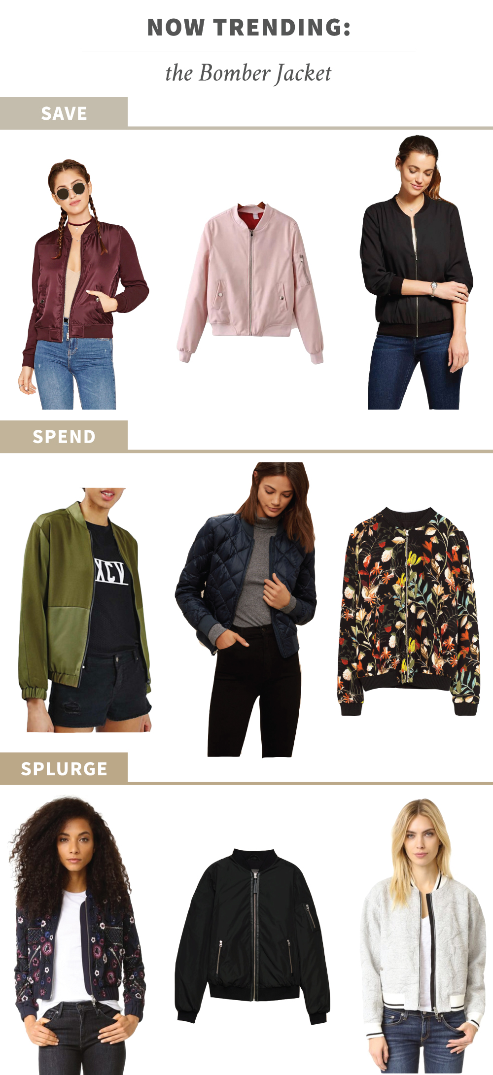 Save, Spend, Splurge: Bomber Jacket