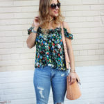 Summer Florals and Gap Destructed True Skinny Jeans