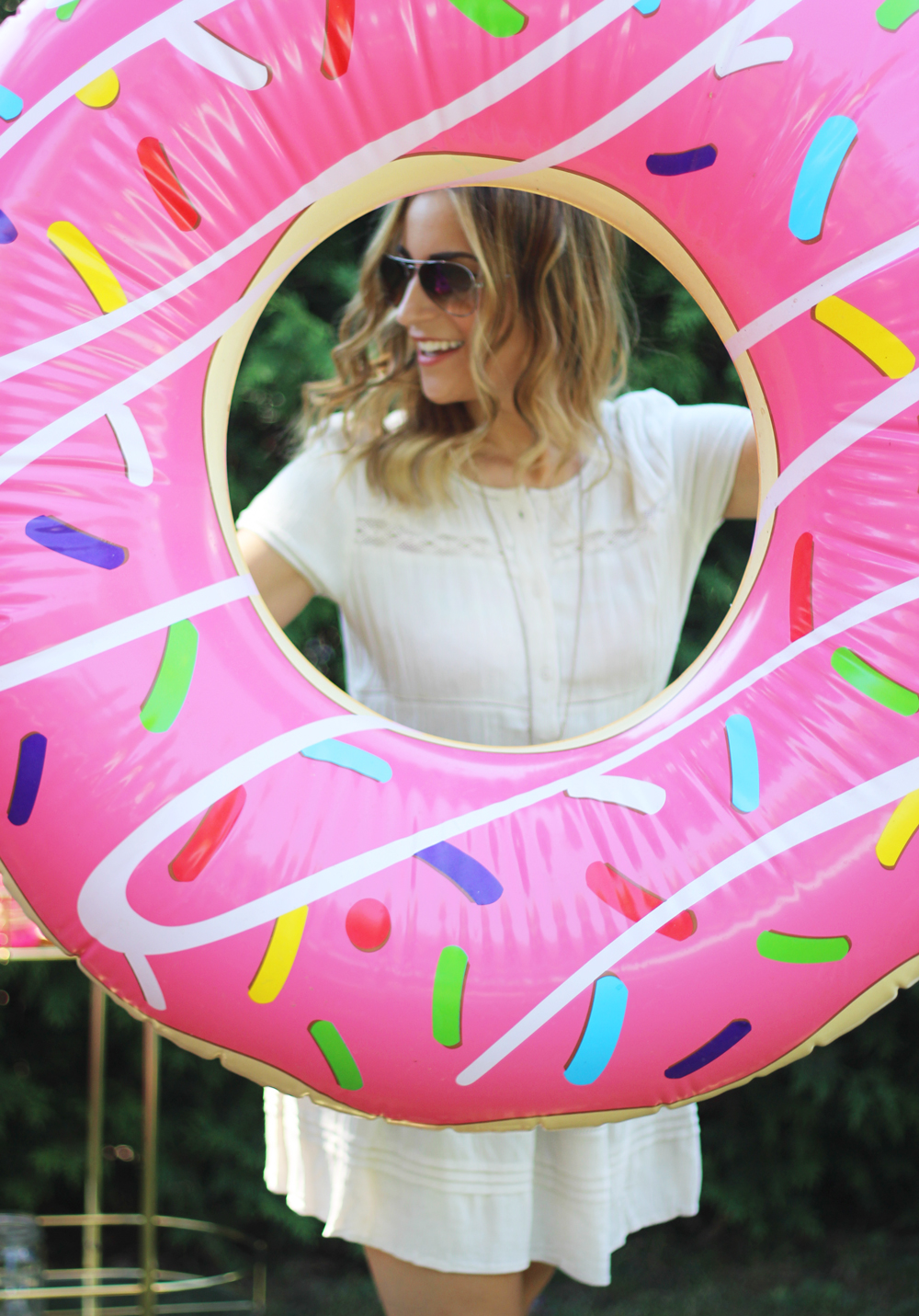 giant donut pool float from Indigo