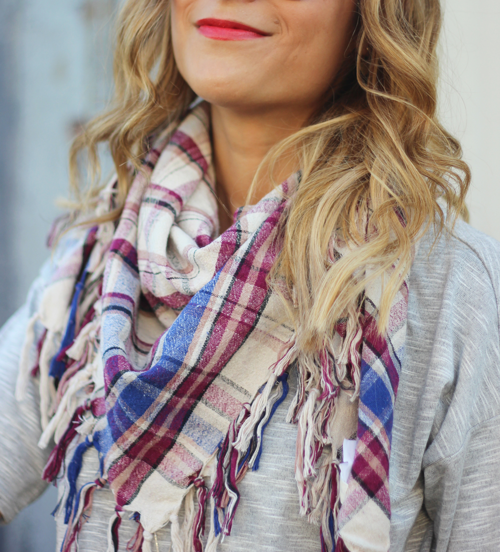 Plaid scarf from Aritzia