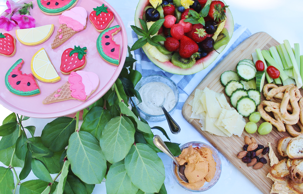 Summer Party Snacks - Cookies from Dessert Lady TO