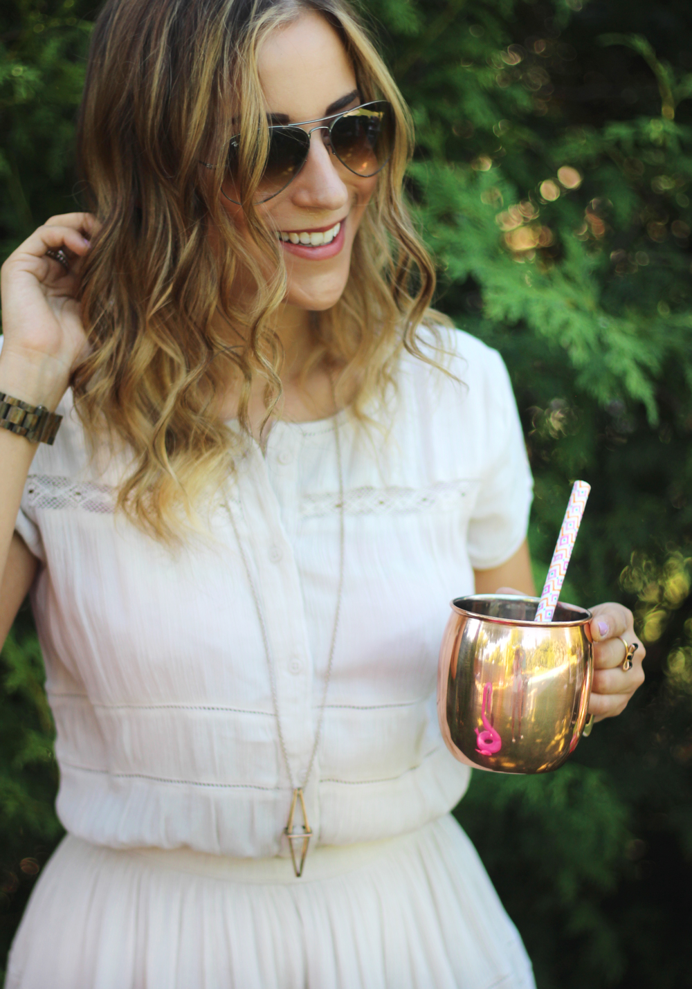 Toronto Fashion, Beauty and Lifestyle Blogger, Jackie Goldhar, in a dress from Aritzia