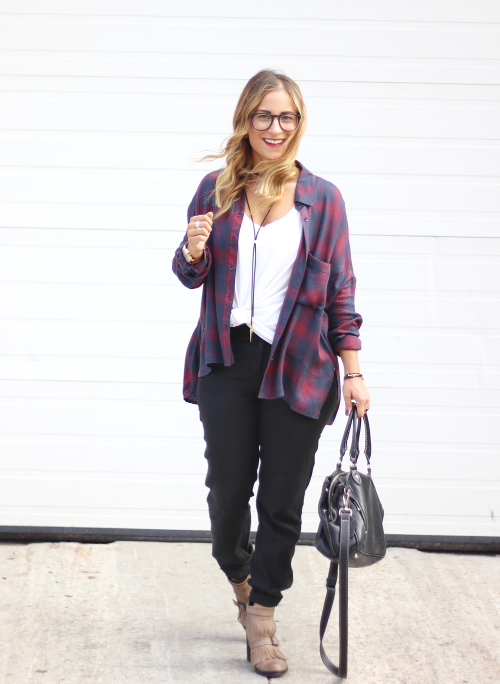 Gentle Fawn Oversized Flannel Shirt - The Tempt Top