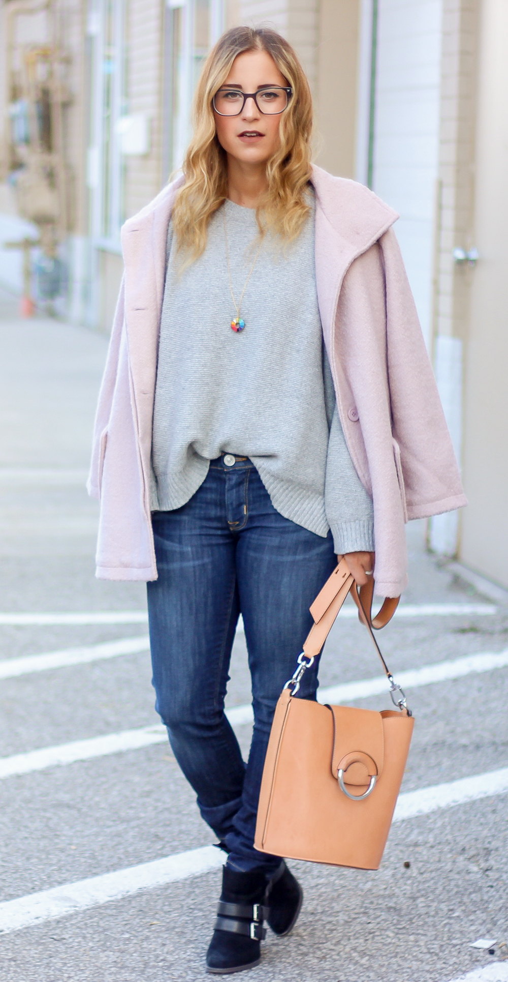 Fall outfit inspiration - Cupcakes and cashmere pink Shayla jacket