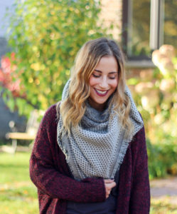 Fall fashion - blanket scarf from Madewell and a cozy burgundy cardigan from Aritzia