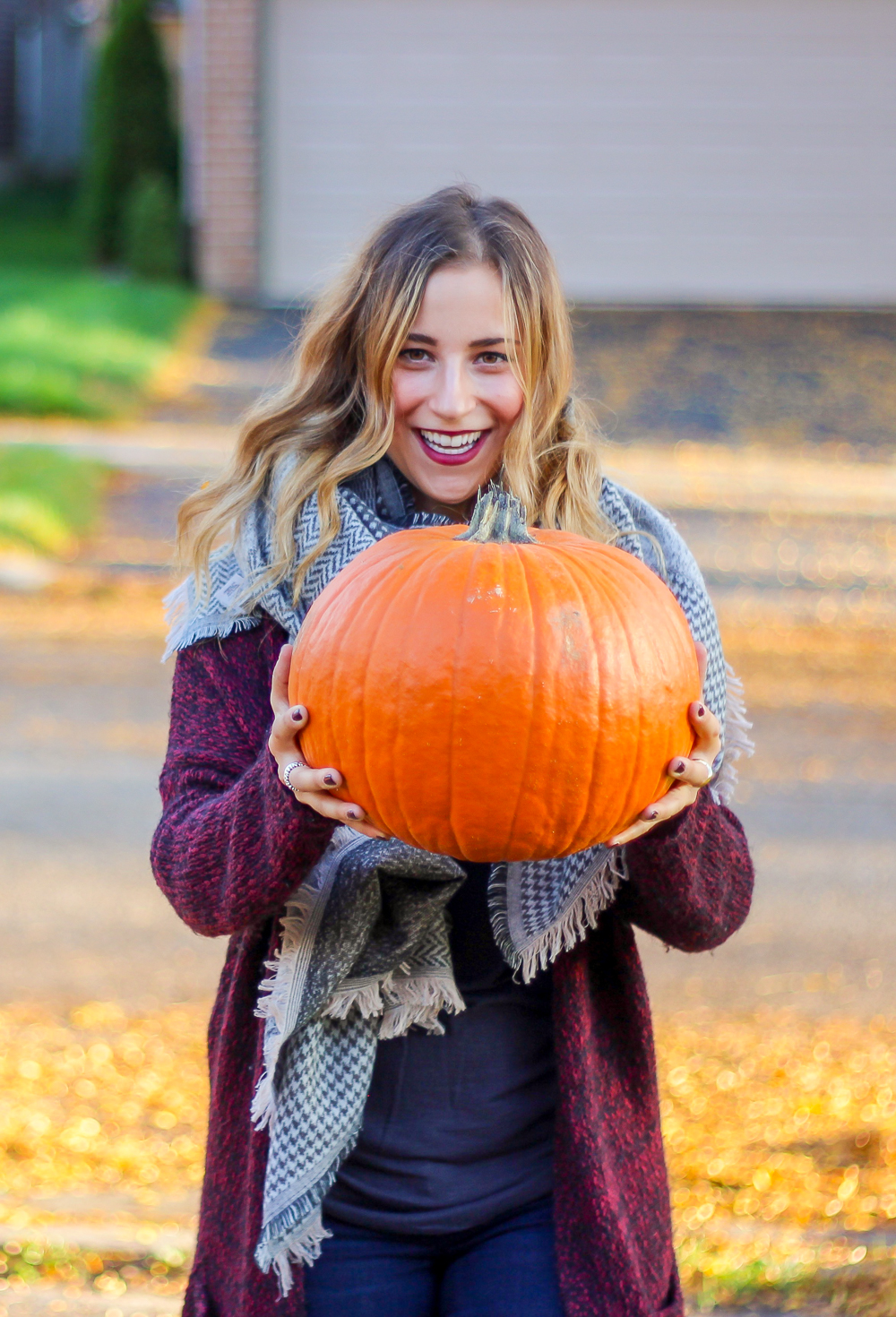 Favourite parts of fall - good hair days and pumpkins