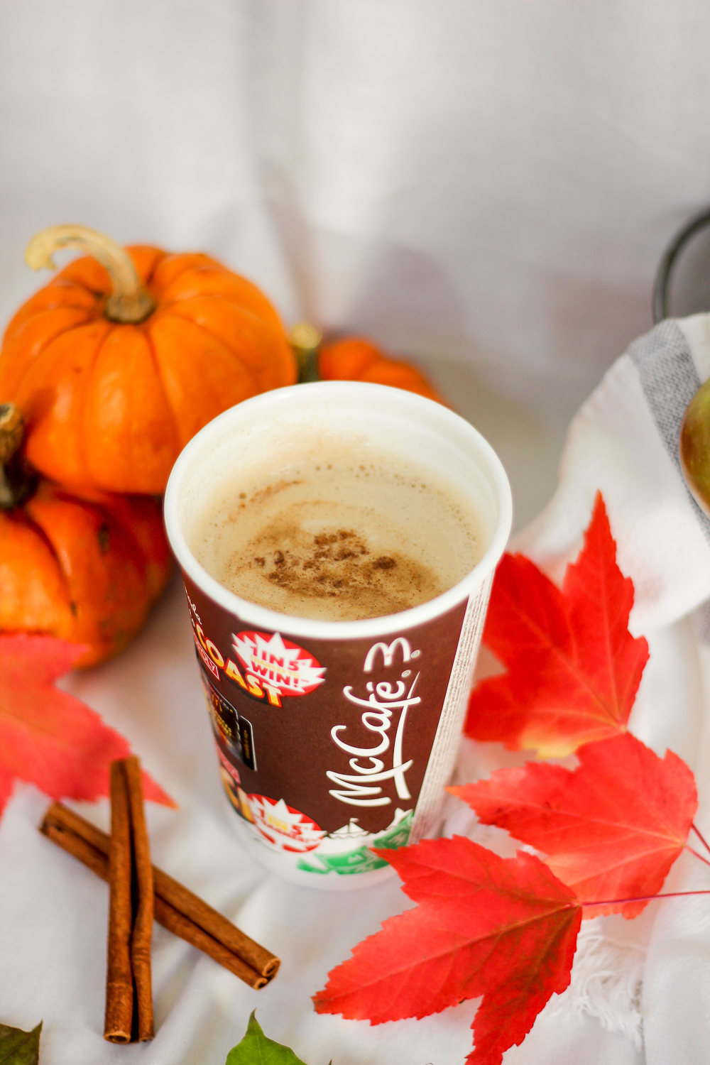 McDonald's speciality coffees, specifically, the McCafé Pumpkin Spice latte is one of my favourite fall treats