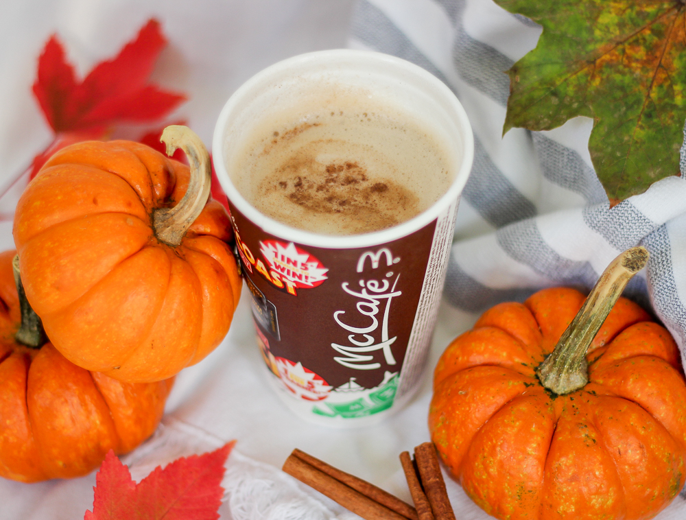 Mc Donald's McCafé pumpkin spice latte is a fall treat that I can't get enough of