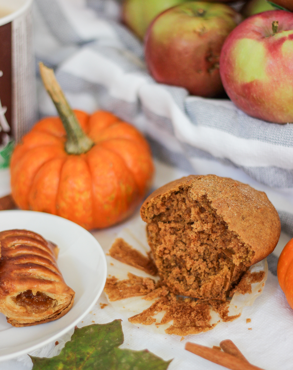 Mc Donald's McCafé Pumpkin spice muffin and mini maple pastries - delicious fall treats