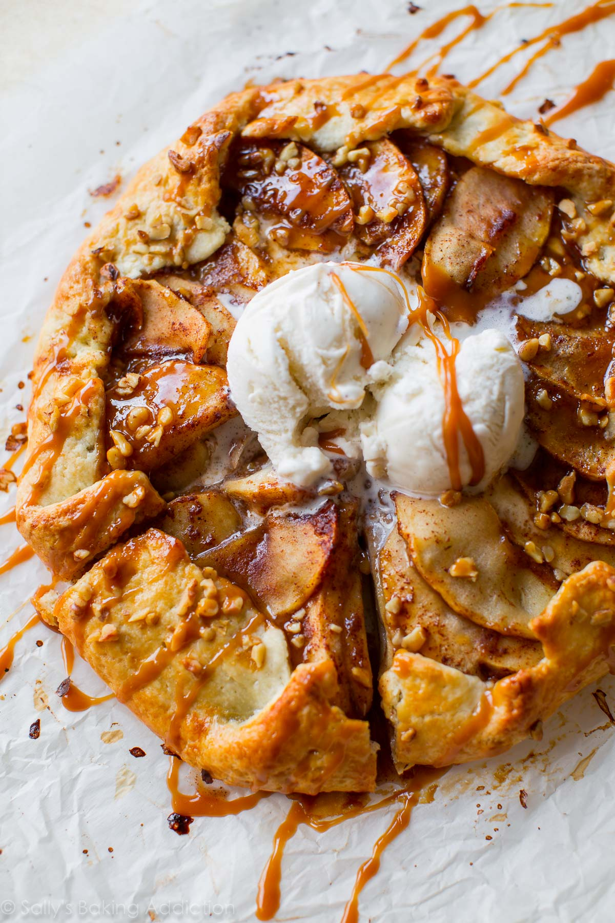 Chocolate And Caramel Apple Pie Galette Recipe — Dishmaps