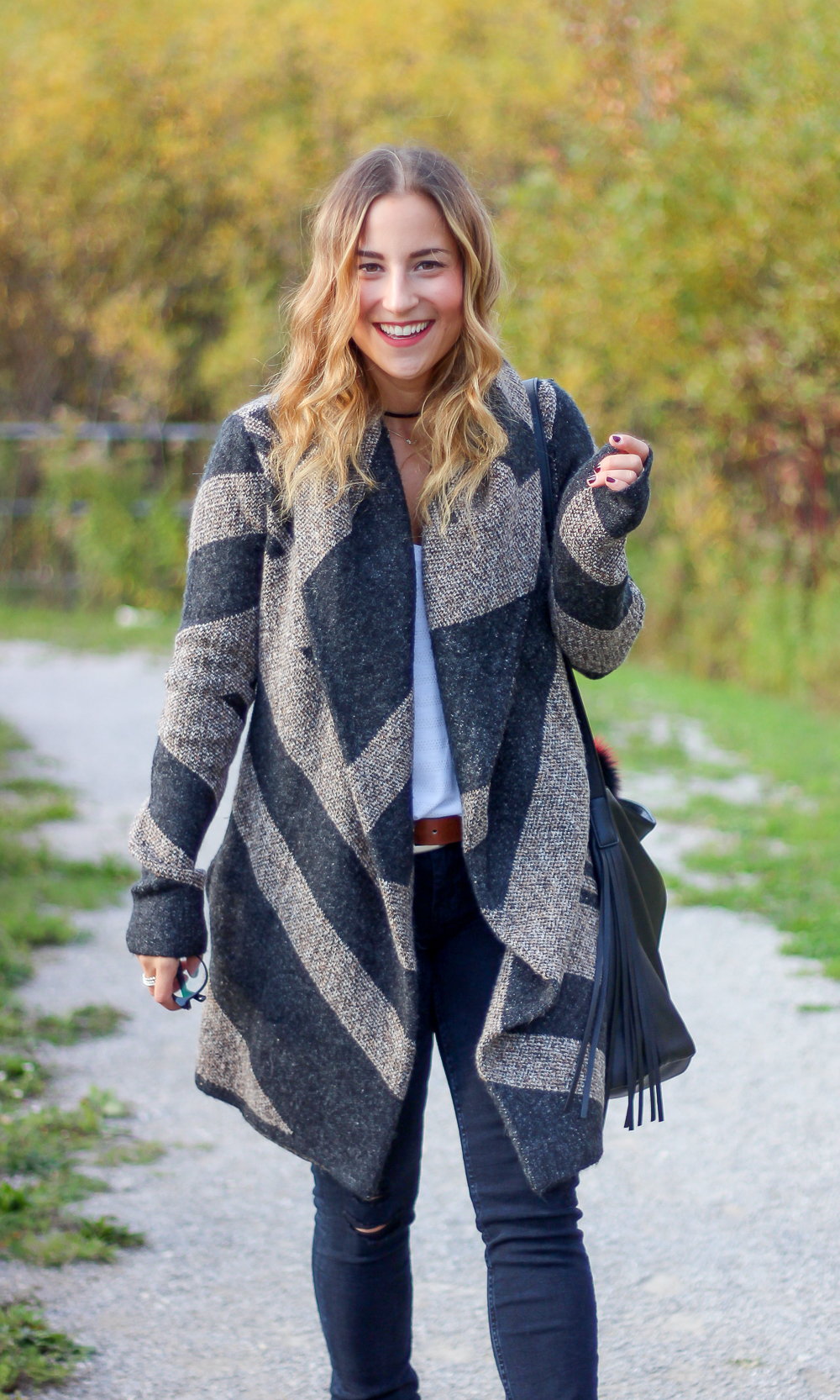 Cozy fall sweater from Le Chateau, as styled by Toronto fashion blogger, Jackie Goldhar, from Something About That