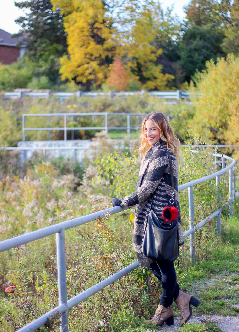 How to wear a cardigan coat for the fall, from Le Chateau