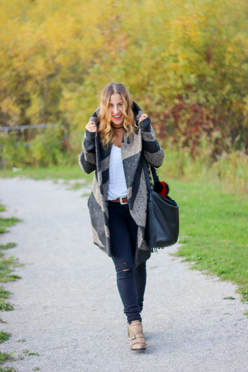 Fall Coatigan from Le Chateau, styled by Canadian fashion blogger, Jackie Goldhar, from Something About That