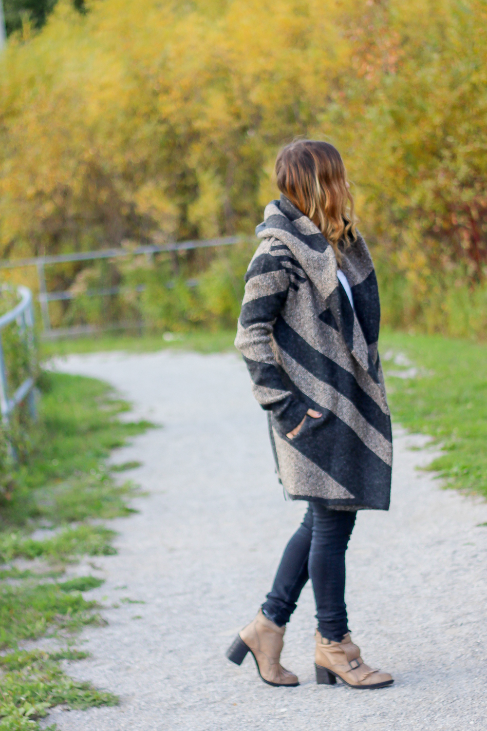 Le Chateau fall cardigan coat, styled by Canadian fashion, beauty and lifestyle blogger, Jackie Goldhar