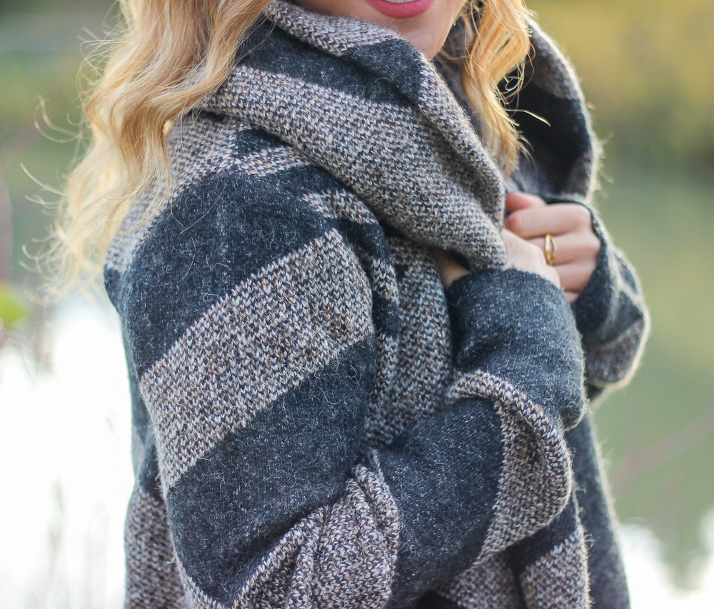 Le Chateau fall cardigan coat, styled by Canadian fashion blogger, Jackie Goldhar