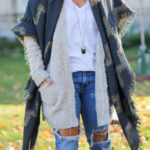 Two Ways to Wear: Boucle Slouchy Cardigan