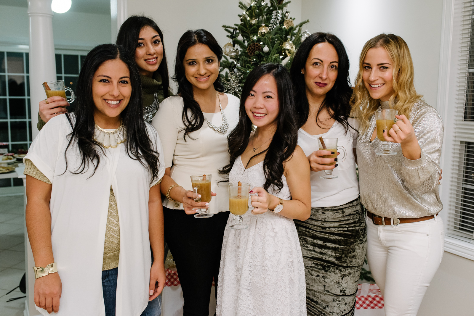Toronto bloggers and foodies, enjoying a holiday cocktail party