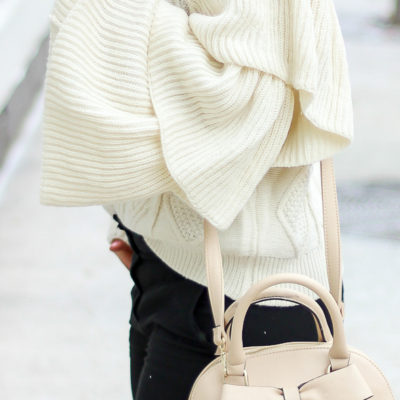 The Most Beautiful Tiered Flare Sleeve Sweater
