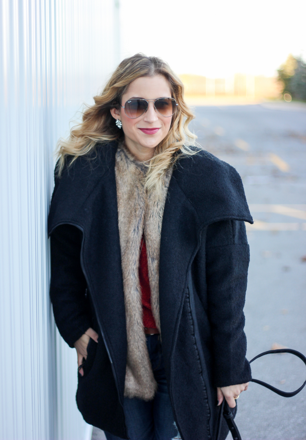 Toronto fashion and lifestyle blogger, Jackie Goldhar, wears the Bench Canada Secure Jacket
