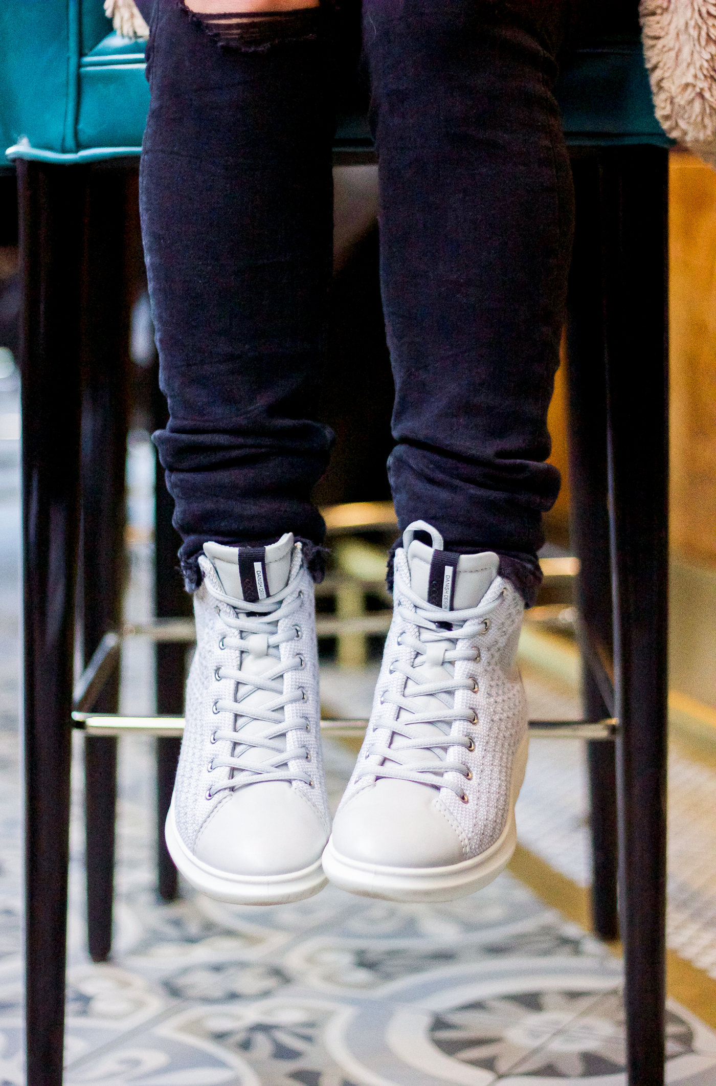 Ecco Soft 3 High Top Sneakers, see how to wear them on Toronto blogger, Jackie Goldhar