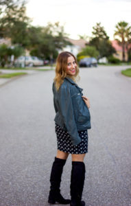 Canadian fashion blogger, Jackie from Something About That, shows how to wear fringe boots