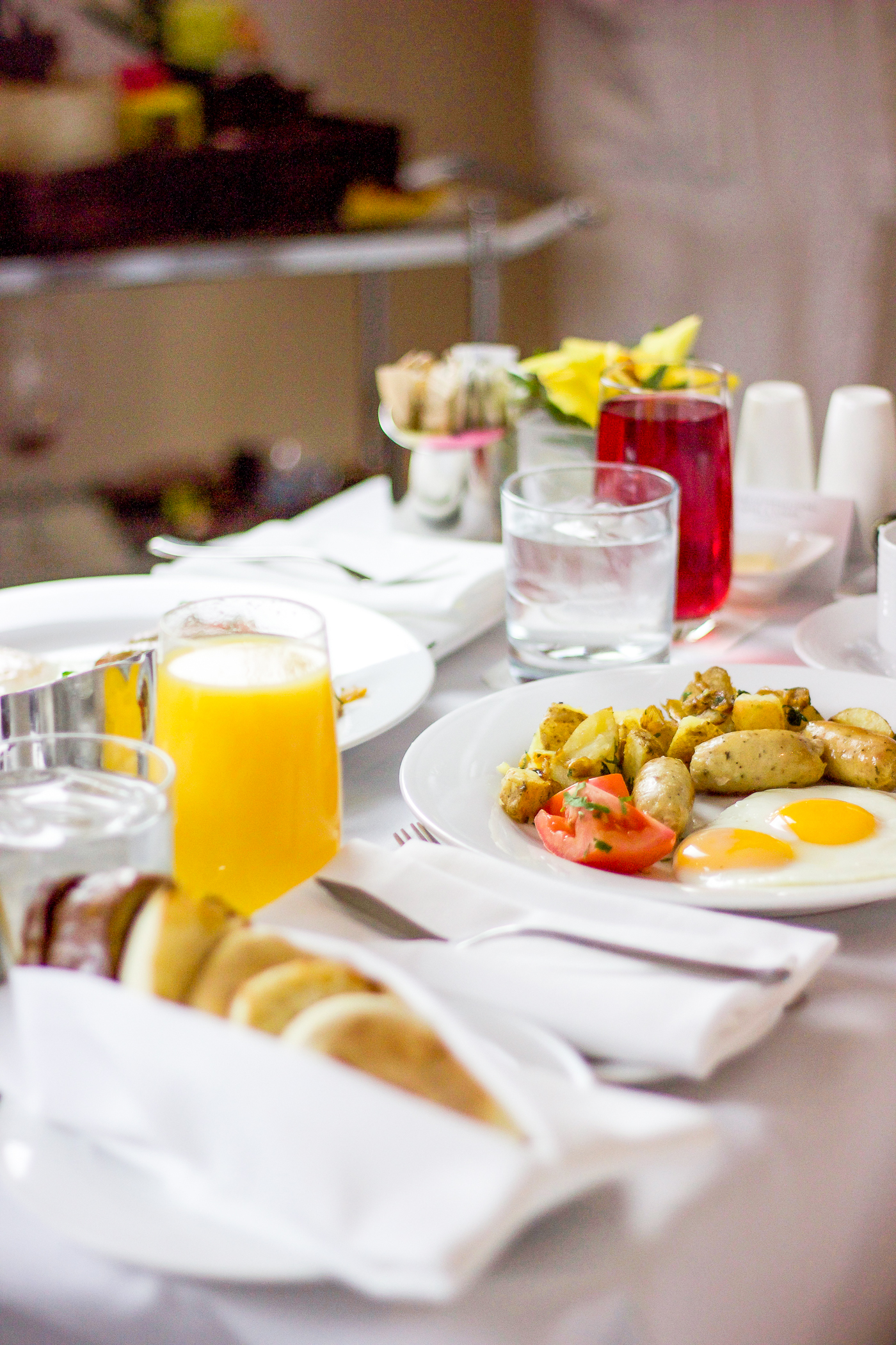 Breakfast in bed at the Trump Toronto Hotel