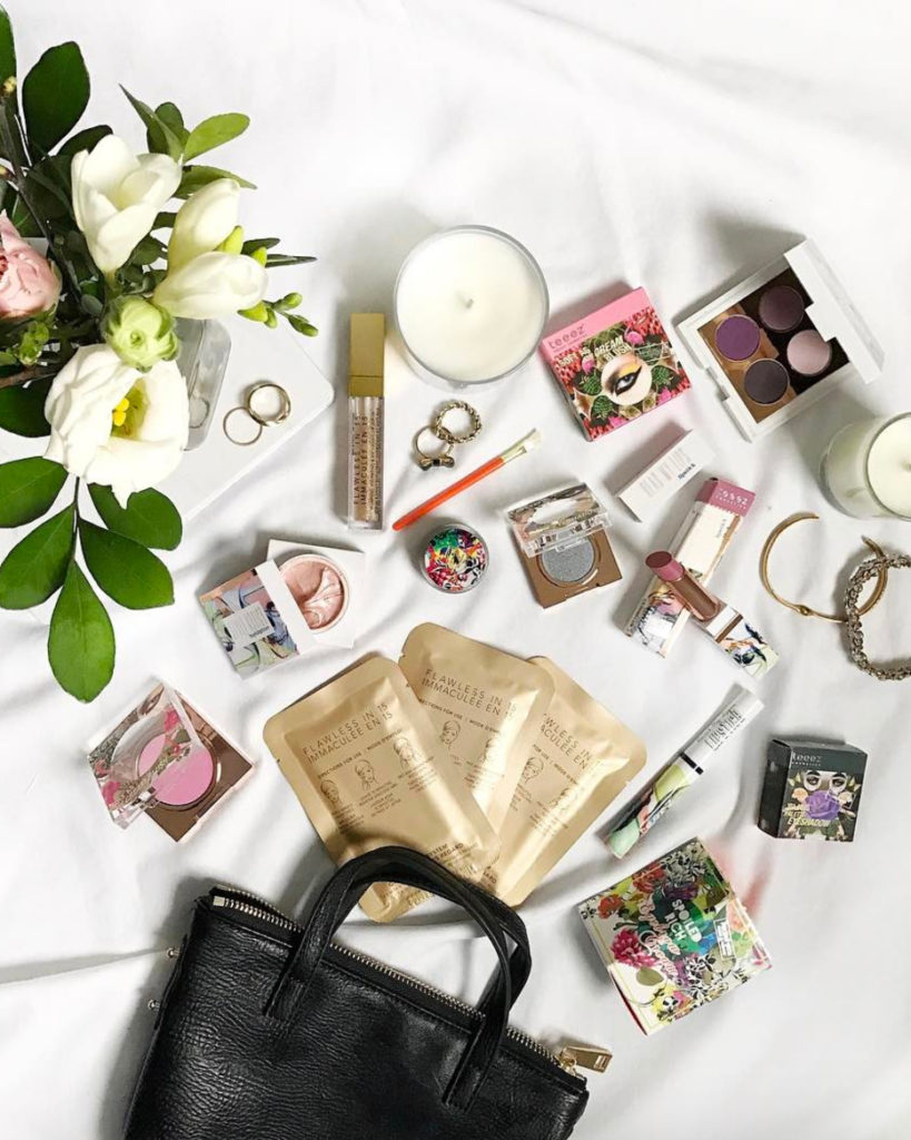 An example of a flat lay photo that was shared on Toronto Instagrammer Jackie - @jackmise