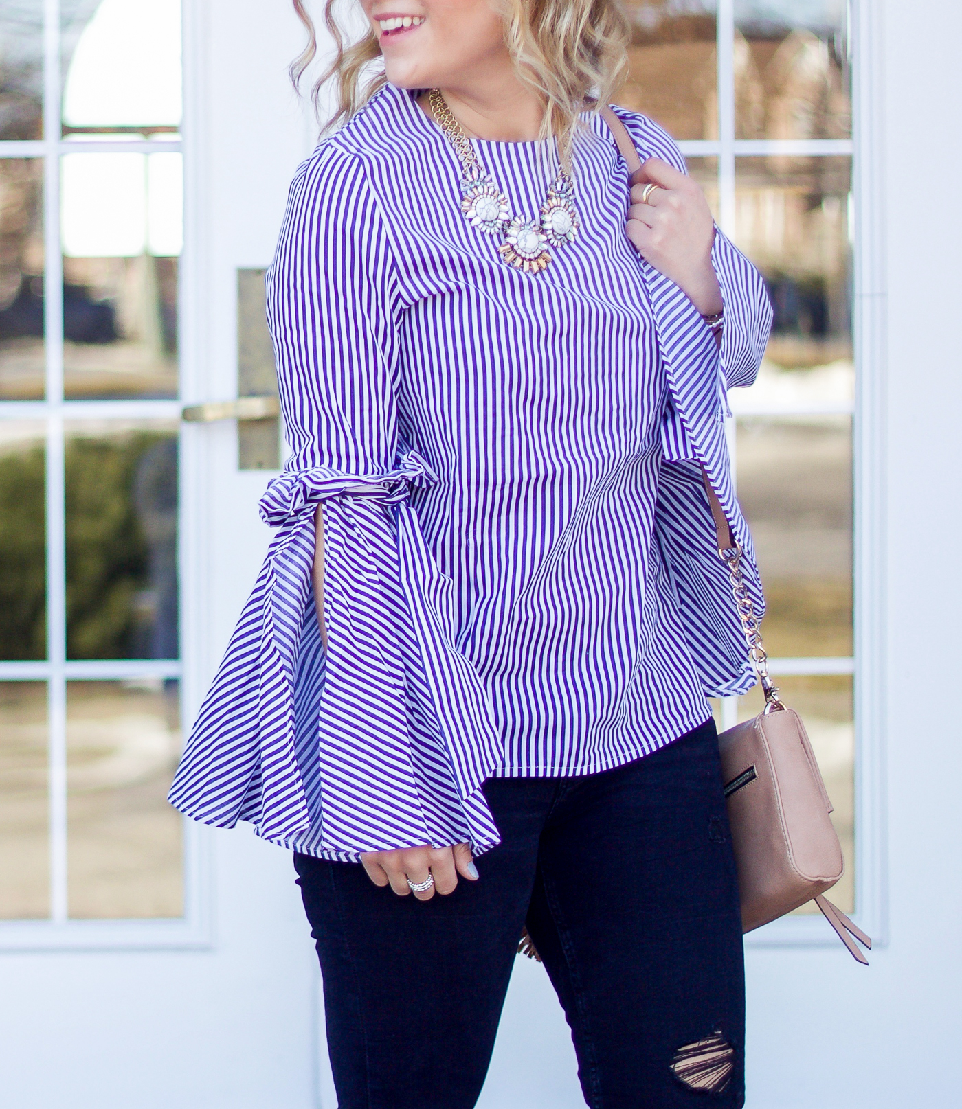 How to wear a bell sleeve top for spring