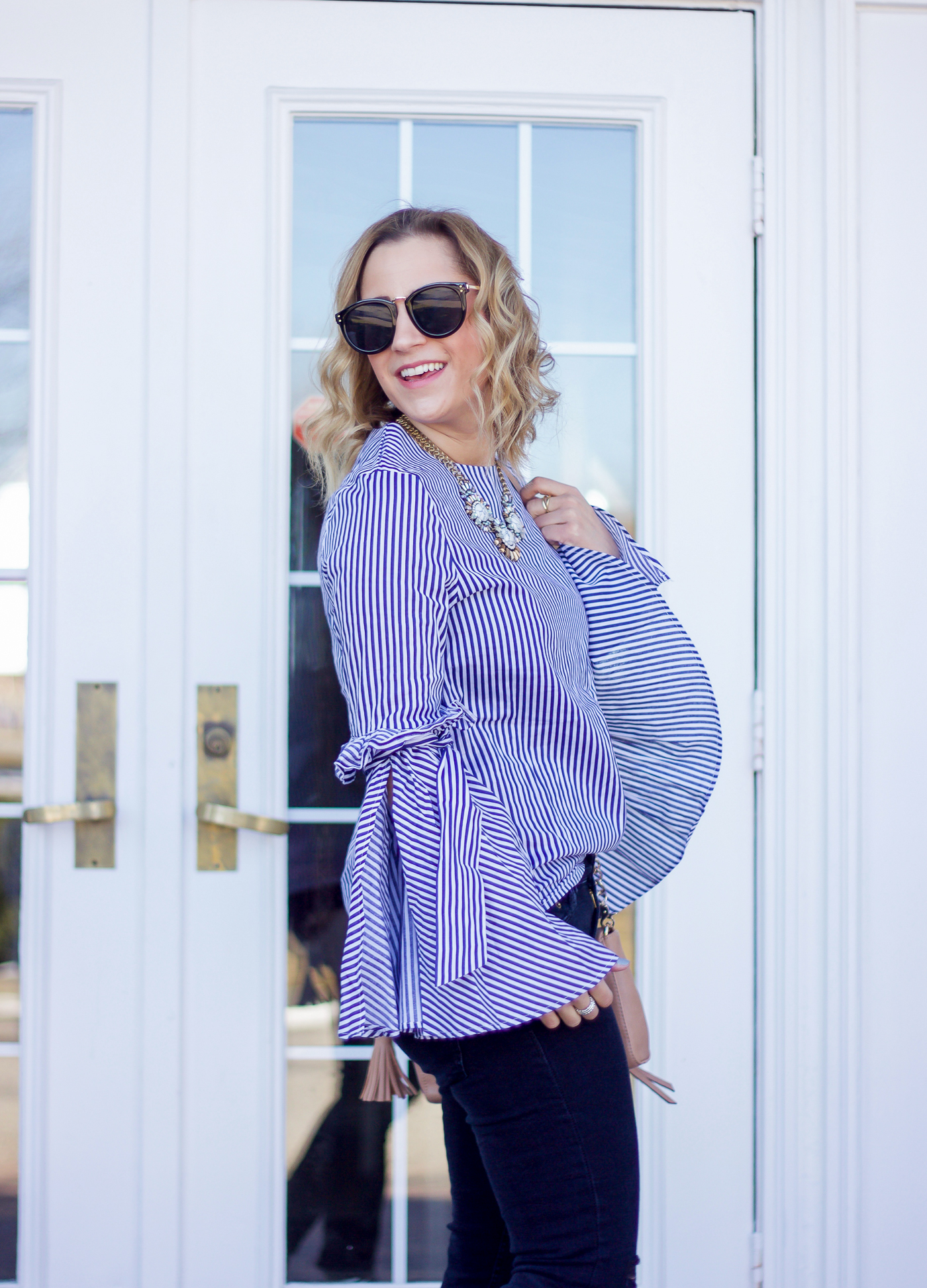 Jackie Goldhar is a Toronto fashion and lifestyle blogger and today, she's showing you how to wear bell sleeve tops