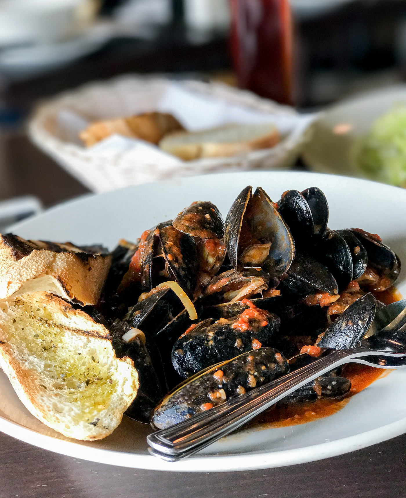 Mussels at Marcello's Italian restaurant in Vaughan