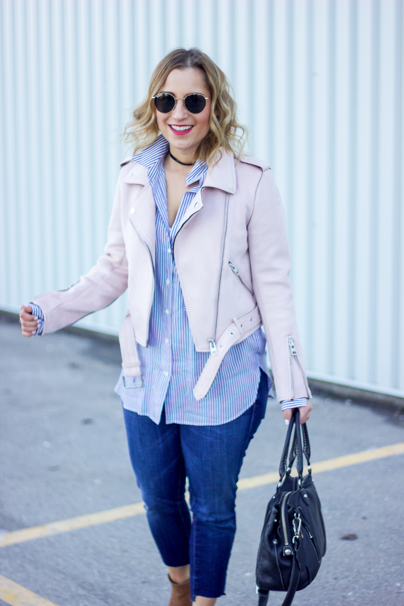 Pastel pink faux suede jacket from Zara is a must-have for spring
