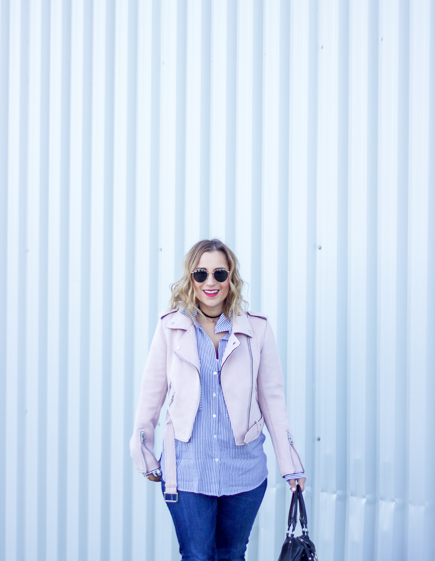 This Pastel Pink Moto Jacket Will be *THE* Jacket For Spring ...
