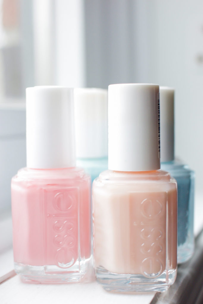 Getting regular manicures is important to me - these are nail polishes from Essie that are perfect for spring