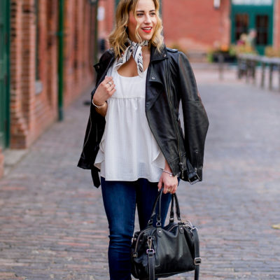My Never-Fail Fall Outfit Staple: The Leather Moto Jacket