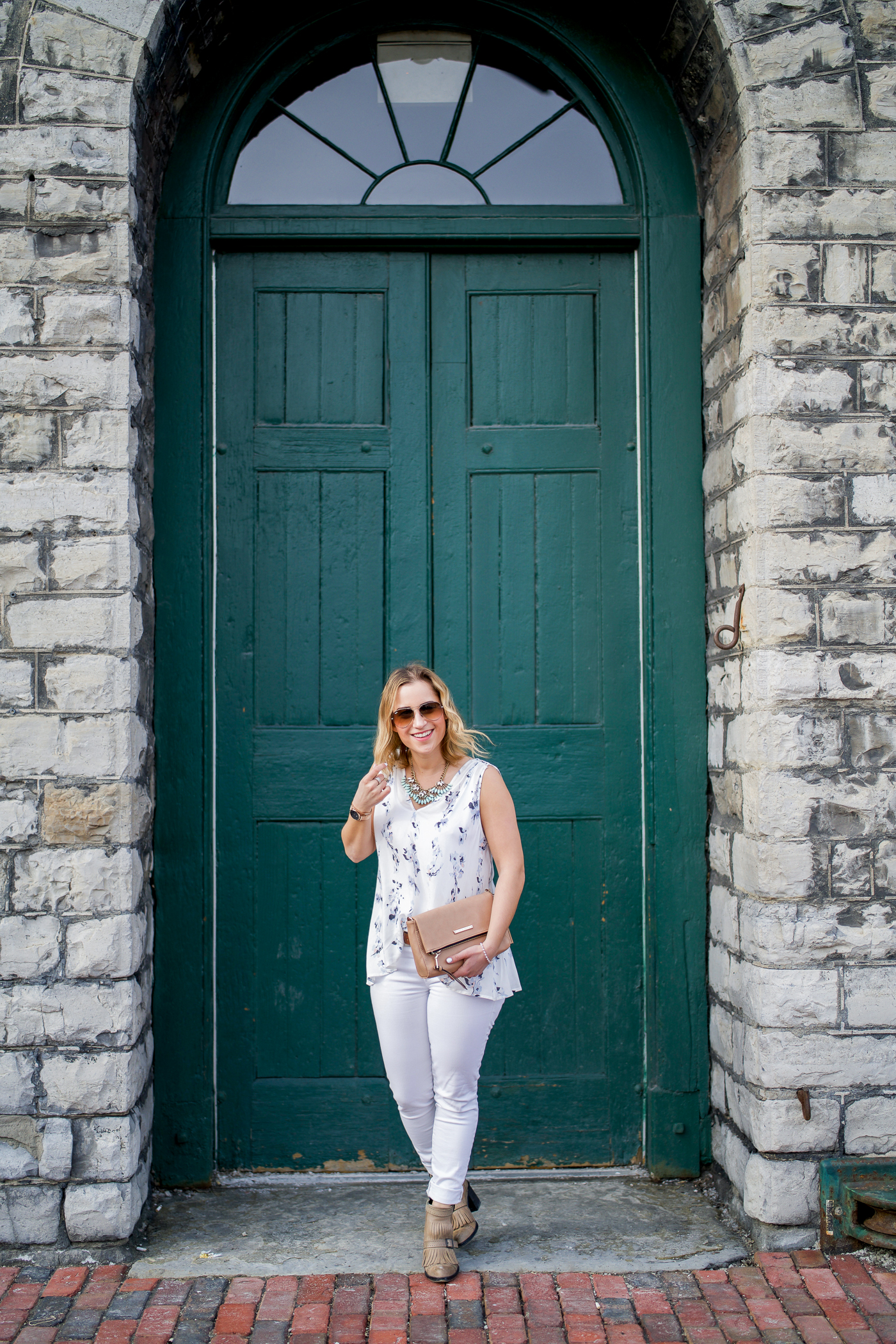 Toronto fashion blogger shoots a spring outfit in the Distillery District