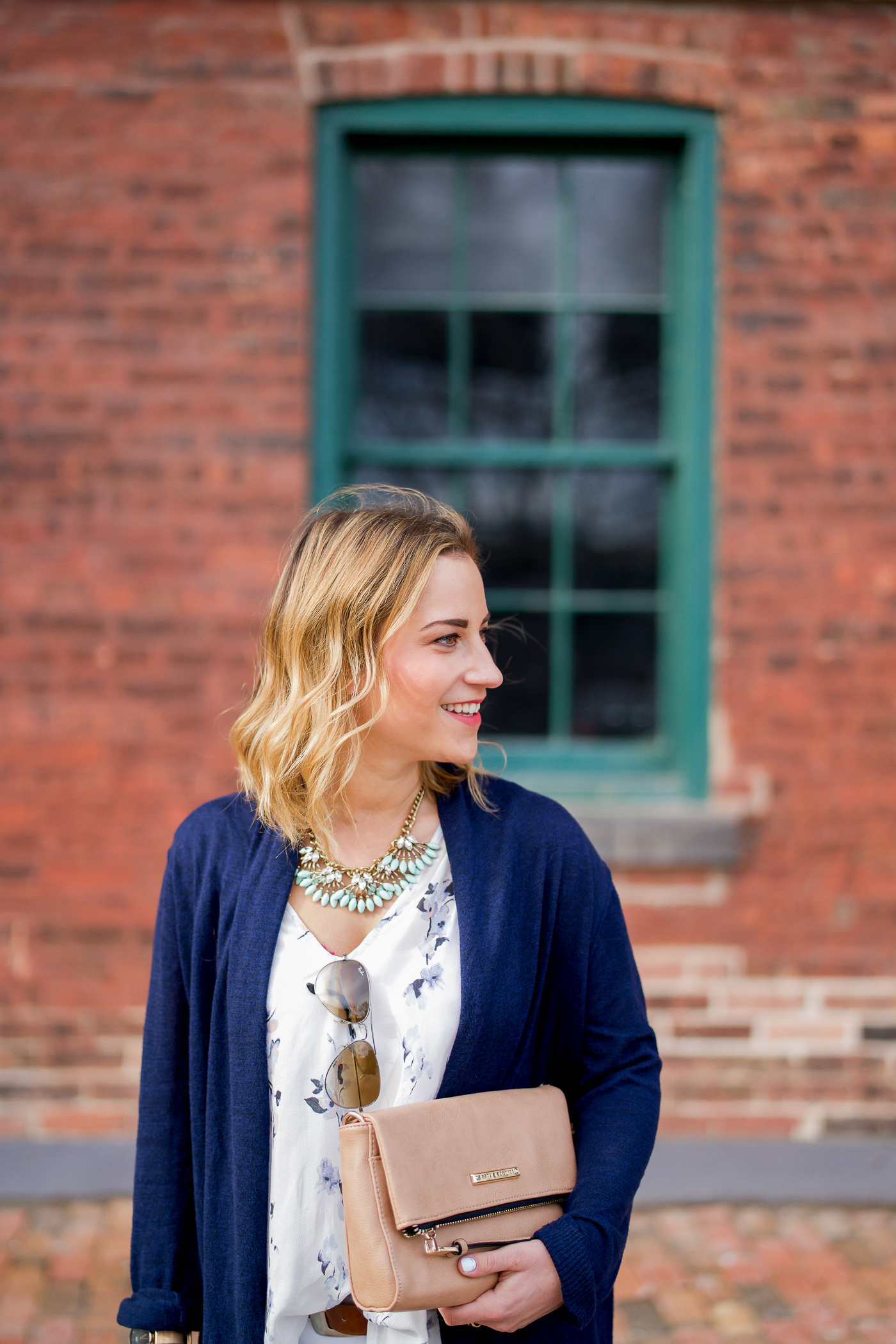Canadian fashion blogger, Jackie Goldhar of Something About That is wearing a Gentle Fawn floral top
