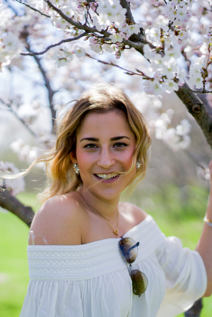 Jackie Goldhar is a Toronto lifestyle, fashion and beauty blogger, so she went to Centennial Park to see the cherry blossoms