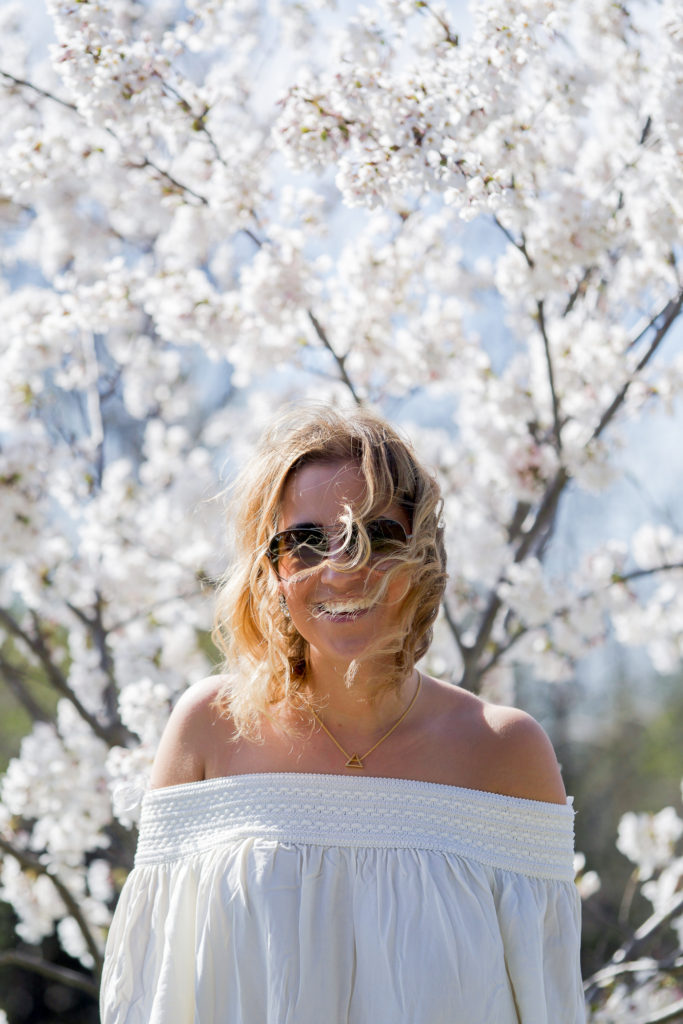 Toronto fashion blogger, Jackie of Something About That, is enjoying the cherry blossoms