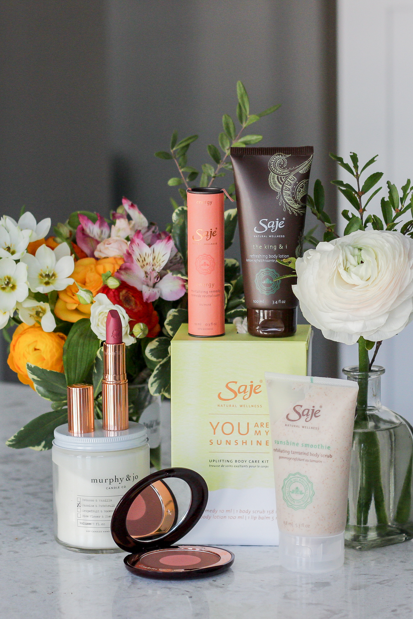 Best Mothers Day Gift ideas, including products from Saje Wellness and Charlotte Tilbury