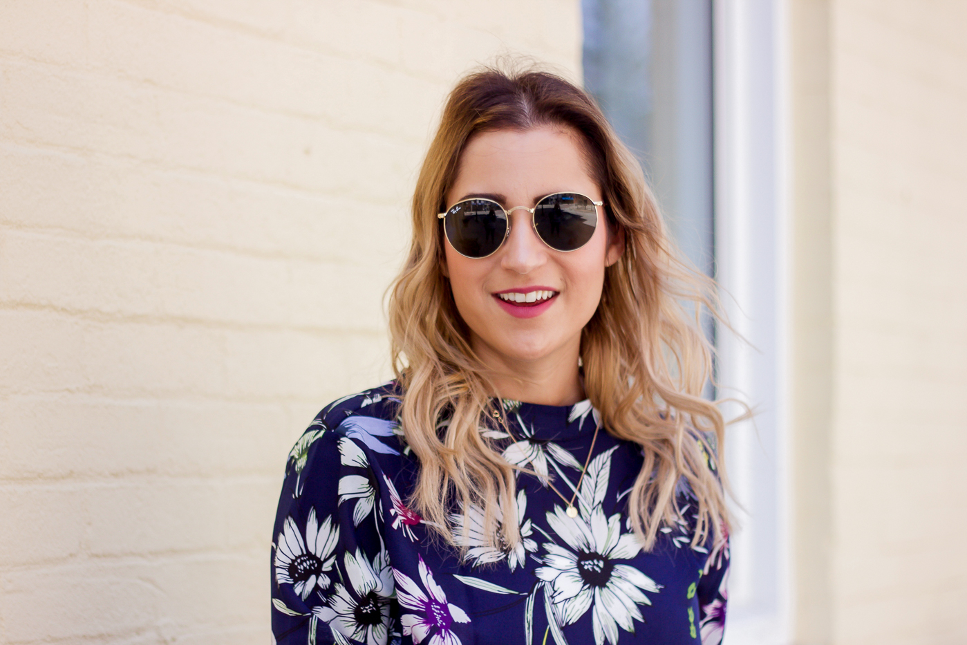 Canadian lifestyle and fashion blogger, Jackie Goldhar of Something About That is wearing semi-permanent hair extensions and a spring outfit idea