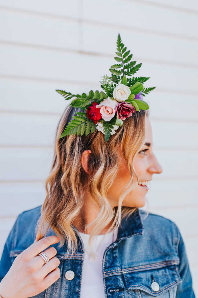 The easiest way to wear a floral crown for spring and summer