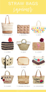 The best straw bags and clutches for summer 2017, from nordstrom, shopbop, j.crew and banana republic